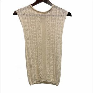 ZARA KNIT Sleeveless Embroidered Top Size M